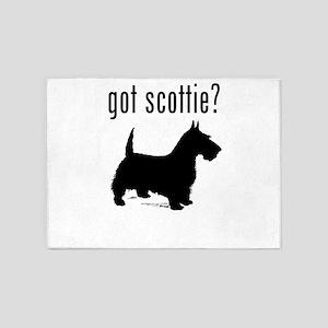 got scottie? 5'x7'Area Rug