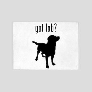 got lab? 5'x7'Area Rug