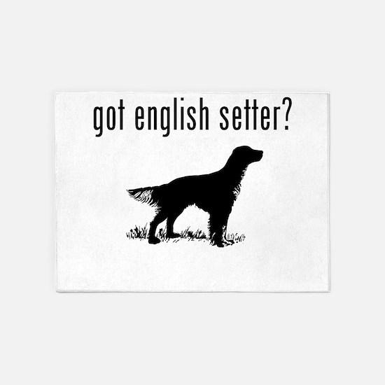 got english setter? 5'x7'Area Rug