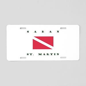 Saban St. Martin Dive Aluminum License Plate
