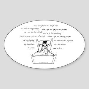 Pit Bull Head Space Sticker (Oval)