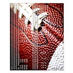 Football Theme Darts Out Chart Small Poster