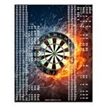 Fire And Ice Darts Out Chart Small Poster