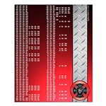 Firefighter Darts Out Chart Small Poster