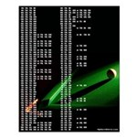 Billiards Theme Darts Out Chart Small Poster