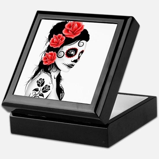 Day of the Dead Girl White Keepsake Box