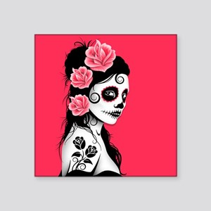 Day of the Dead Girl Pink Sticker