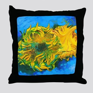 Van Goghs' Sunflowers Throw Pillow