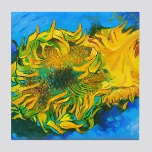 Van Goghs' Sunflowers Tile Coaster