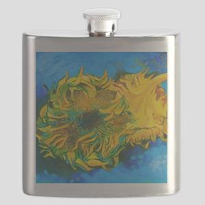 Van Goghs' Sunflowers Flask
