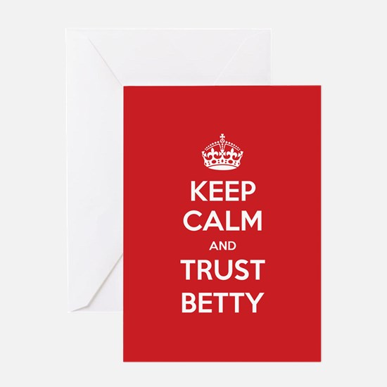 Trust Betty Greeting Cards