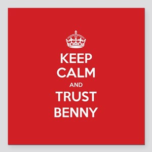 "Trust Benny Square Car Magnet 3"" x 3"""