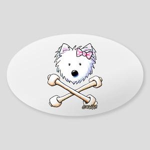Torrid Westie Girl Sticker (Oval)