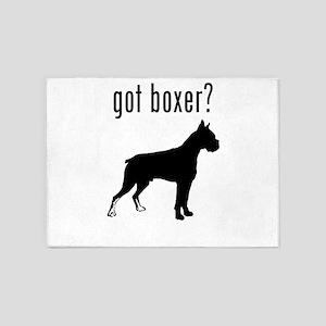 got boxer? 5'x7'Area Rug