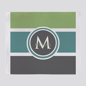 Elegant Modern Monogram Throw Blanket