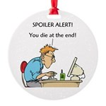 The Angriest Programmer Round Ornament