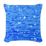 Sun sparkle Woven Throw Pillow