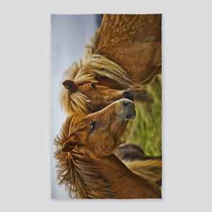 In Love Horses 3'x5' Area Rug