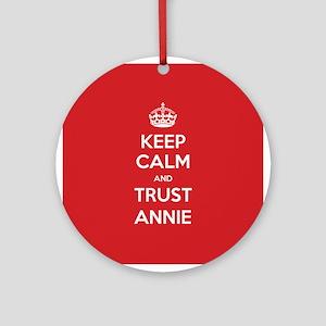 Trust Annie Ornament (Round)