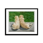 Yellow Labrador Lazy Afternoon Framed Panel Print