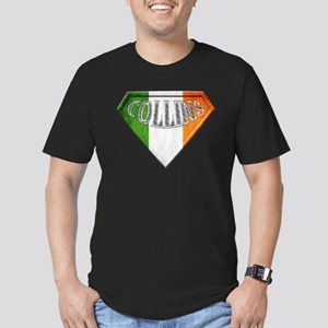 Collins Irish Superher Men's Fitted T-Shirt (dark)