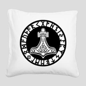 Mjolnir Square Canvas Pillow