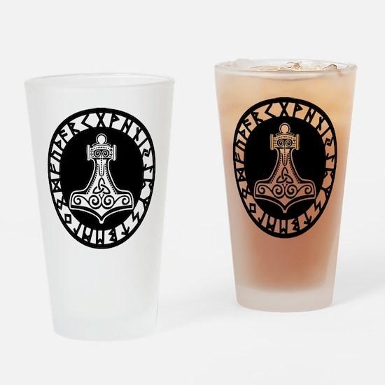 Mjolnir Drinking Glass