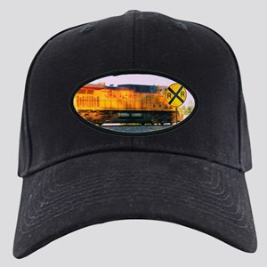 Railroad Baseball Caps - Black Cap With Patch