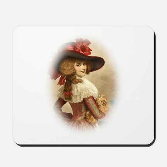 The Perfect Colonial Lady W Dog Mousepad