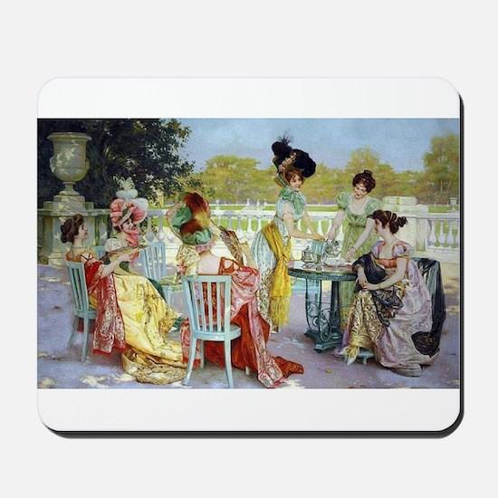 Regency Ladies Tea Party Mousepad