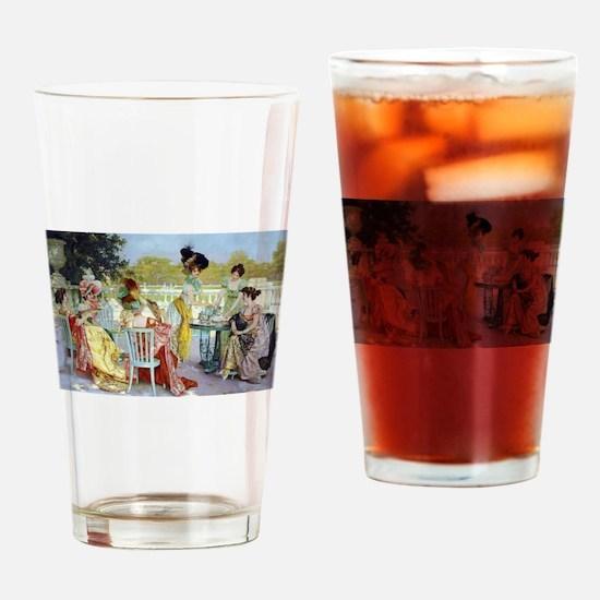 Regency Ladies Tea Party Drinking Glass