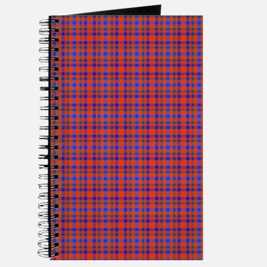 Blue and Orange Plaid Journal