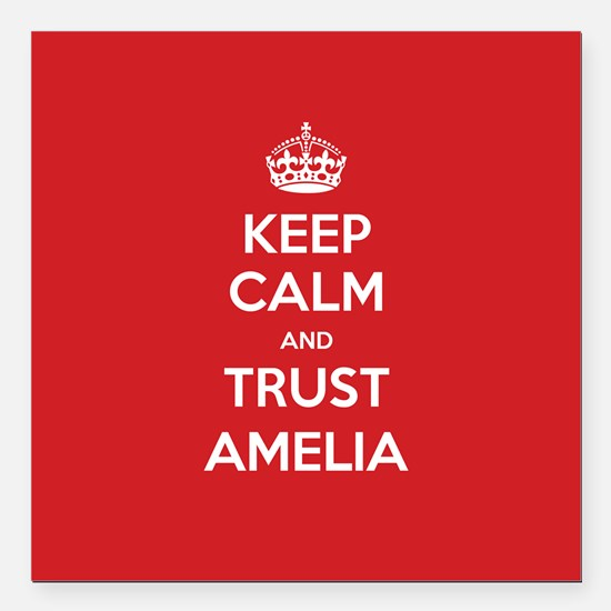 """Trust Amelia Square Car Magnet 3"""" x 3"""""""
