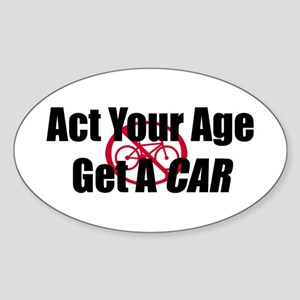 Get A Car Sticker (Oval)