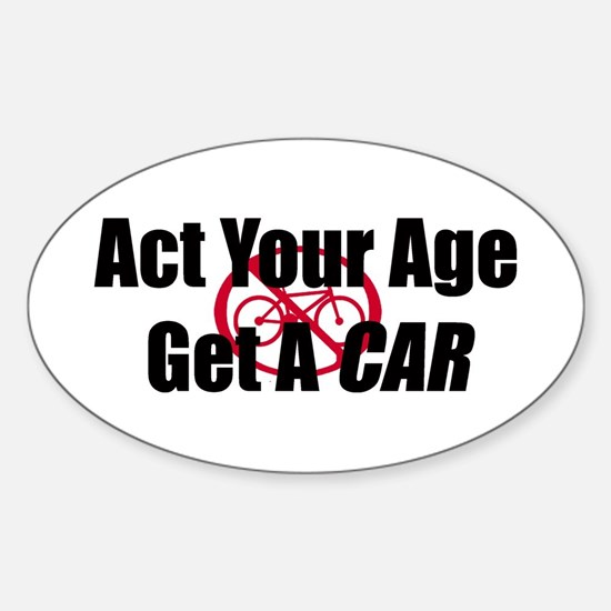 Get A Car Sticker (Oval)