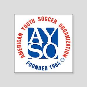 """AYSO 1258 Square Sticker 3"""" x 3"""""""