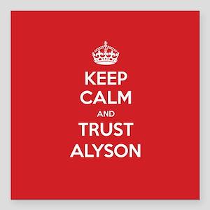 """Trust Alyson Square Car Magnet 3"""" x 3"""""""