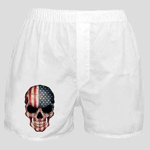 American Flag Skull Boxer Shorts