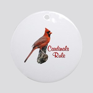 Cardinals Rule Ornament (Round)