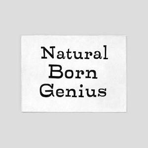 Natural Born Genius 5'x7'Area Rug