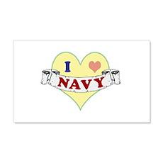 I Heart Navy Wall Decal
