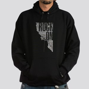 Rock On - Rock Climbing Graphic Tee Hoodie