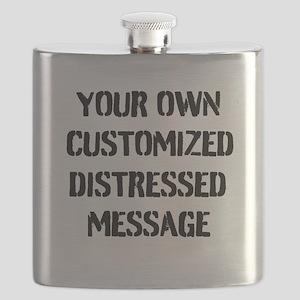 Custom Distressed Message Flask