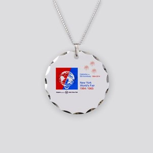 50th Anniversary Fireworks Necklace Circle Charm