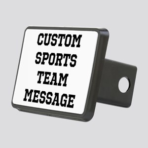 Custom Sports Team Message Rectangular Hitch Cover