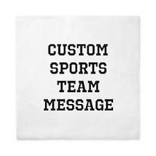 Custom Sports Team Message Queen Duvet