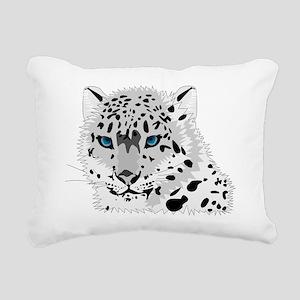 Beautiful Blue Eyed Snow Rectangular Canvas Pillow