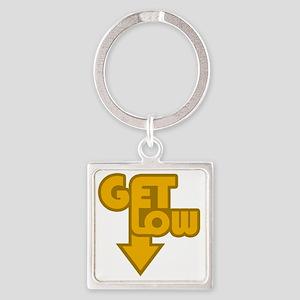 Get Low Orange Square Keychain