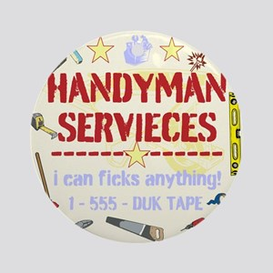 Handyman Ornament (Round)