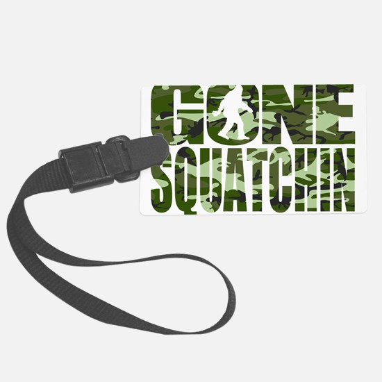 Camo Gone Squatchin Luggage Tag